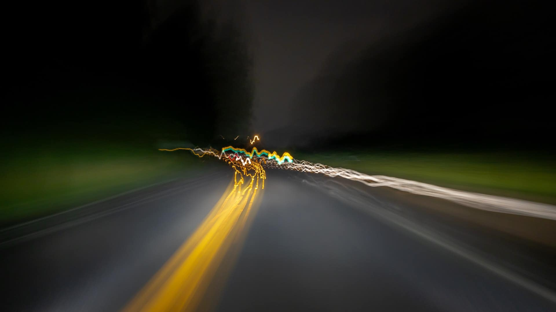 Blurry highway image
